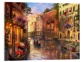 Acrylglas print  sunset in venice - Dominic Davison