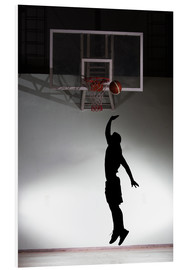 PVC print  Silhouette of a basketball player