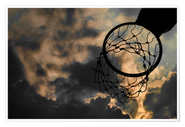 Premium poster  Basketball hoop and sky