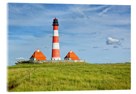 Acrylglas print  Westerhever Lighthouse, North Sea coast