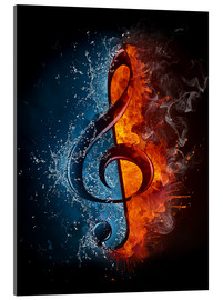 Acrylglas print  Fire and water music