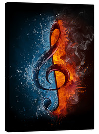 Canvas print  Fire and water music