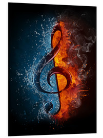 PVC print  Fire and water music