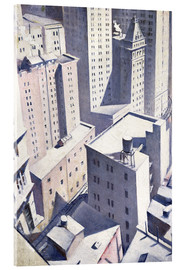 Acrylglas print  Looking Down on Downtown - Christopher Nevinson