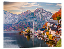 Acrylglas print  Hallstatt, Austria in the Autumn - Mike Clegg Photography