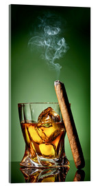 Acrylglas print  Cigar on the rocks