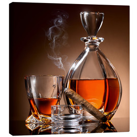 Canvas print  Cigar en whisky
