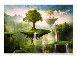 Premium poster Floating islands