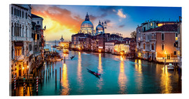 Acrylglas print  Grand Canal in Venice at night, Italy - Jan Christopher Becke