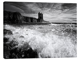 Canvas print  CastlKeis Castle, Wick, Scotland - Martina Cross