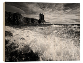 Hout print  CastlKeis Castle, Wick, Scotland - Martina Cross