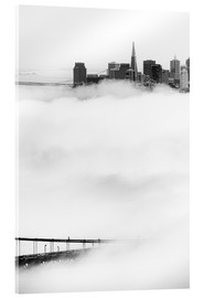 Acrylglas print  San Francisco disappeared in the fog