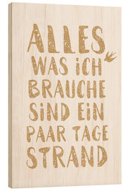 Hout print  Days at the beach (German) - Ohkimiko