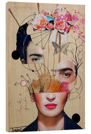 Hout print  Frida for beginners - Loui Jover