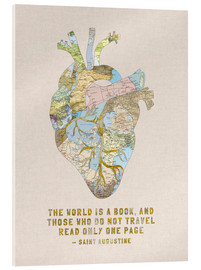 Acrylglas print  A Travelers Heart + Quote - Bianca Green