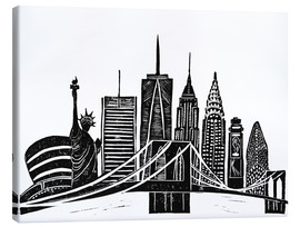 Canvas print  LINOCUT NEW YORK - Bianca Green