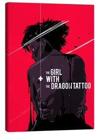 Canvas print  The Girl with The Dragon Tattoo - Fourteenlab
