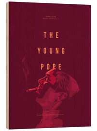Hout print  Young Pope - Fourteenlab