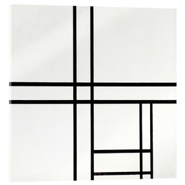 Acrylglas print  Composition in White, Black, and Red - Piet Mondriaan