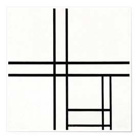 Premium poster  Composition in White, Black, and Red - Piet Mondrian