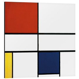 Aluminium print  Composition c no iii with red yellow and blue - Piet Mondrian