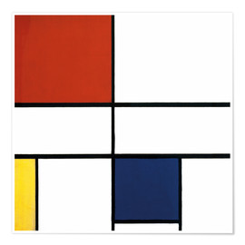 Premium poster  Composition c no iii with red yellow and blue - Piet Mondrian