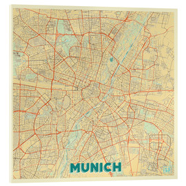 Acrylglas print  Munich Map Retro - Hubert Roguski
