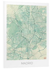 PVC print  Map of Madrid, blue - Hubert Roguski