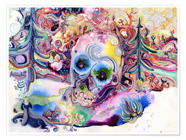 Premium poster  A Skull in the Forest - Josh Byer