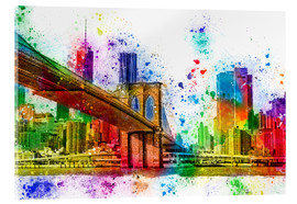 Acrylglas print  New York with Brooklyn Bridge - Peter Roder