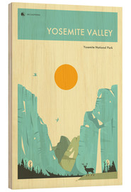 Hout print  Yosemite Valley - Jazzberry Blue