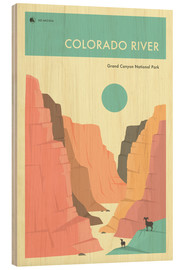 Hout print  GRAND CANYON NATIONAL PARK POSTER - Jazzberry Blue