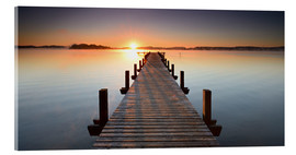 Acrylglas print  Footbridge at sunrise - Andreas Vitting