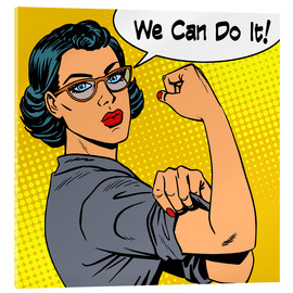 Acrylglas print  We can do it! popart