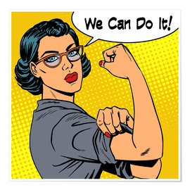 Premium poster  We can do it! popart