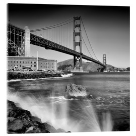 Acrylglas print  Golden Gate Bridge with breakers - Melanie Viola