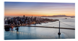 Acrylglas print  Aerial view of San Francisco at sunset, USA - Matteo Colombo