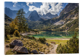 Acrylglas print  Idyllic mountain lake in the Tyrol mountains (Austria) - Christian Müringer