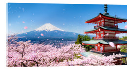 Acrylglas print  Chureito pagoda with Mount Fuji in Fujiyoshida, Japan - Jan Christopher Becke