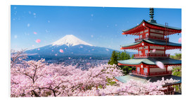 PVC print  Chureito pagoda with Mount Fuji in Fujiyoshida, Japan - Jan Christopher Becke