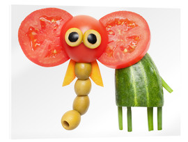 Acrylglas print  Vegetable animals - elephant
