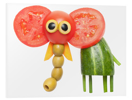 PVC print  Vegetable animals - elephant