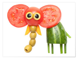 Premium poster  Vegetable animals - elephant