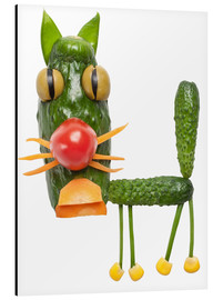 Aluminium print  Vegetable animals - cat
