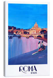 Canvas print  Retro Vespa in Rome to Vatican City - M. Bleichner