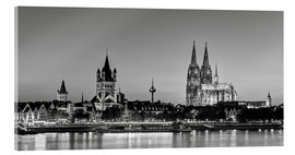 Acrylglas print  Magnificent Cologne black and white - Michael Valjak