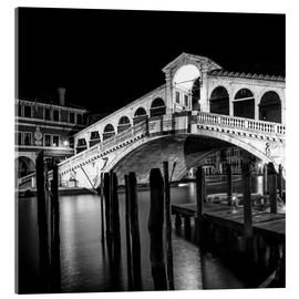 Acrylglas print  VENICE Rialto Bridge at Night - Melanie Viola