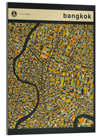 Acrylglas print  BANGKOK MAP - Jazzberry Blue