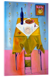 Acrylglas print  Small chair and big table - Diego Manuel Rodriguez