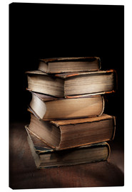 Canvas print  Old books on a pile